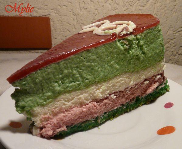 entremet pistache chocolat blanc framboises 6