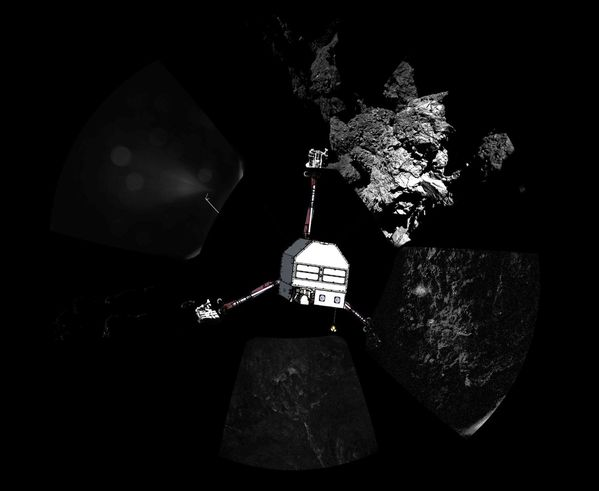 Philae - Vue panoramique CIVA - 67P - Lander Orientation -