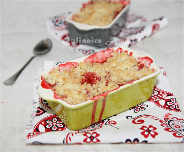 crumble aux fraises et noix de coco culinaire amoula. Black Bedroom Furniture Sets. Home Design Ideas