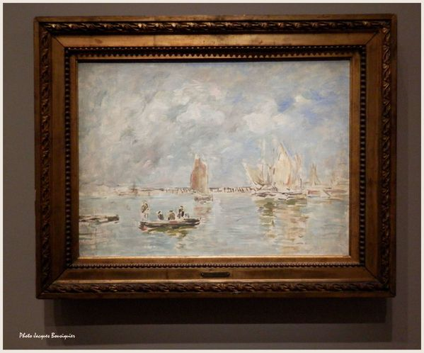 Barques et estacade Trouville Eugene Boudin Musee Luxembour