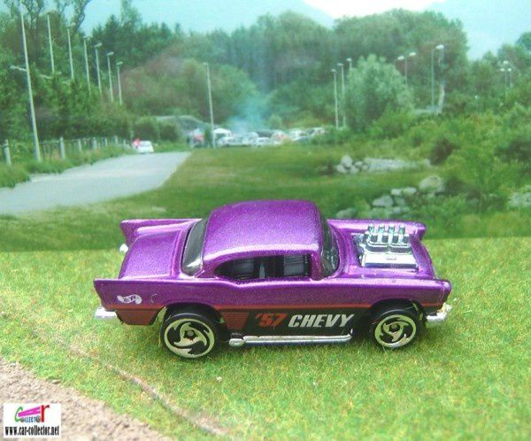 57 chevy purple collector 787