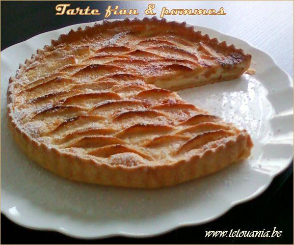 tarte au flan aux pommes 1