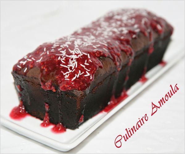 Cake chocolat framboise 1