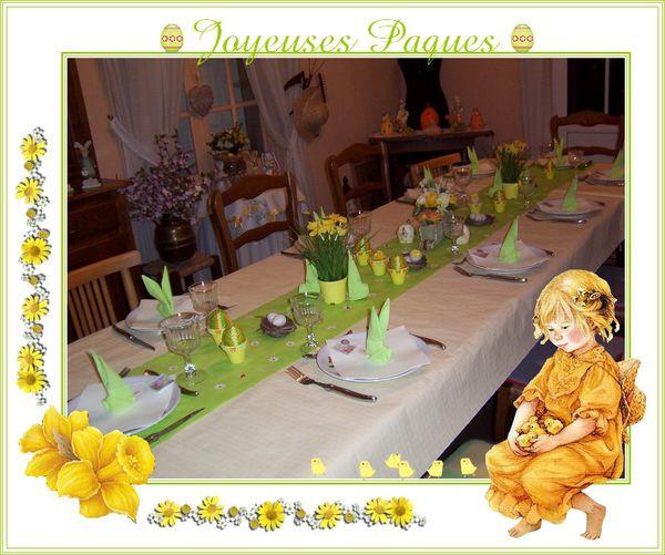 Table de Pâques encadrer