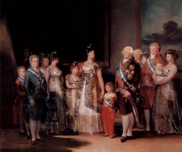 Goya portrait de la famille de charles IV