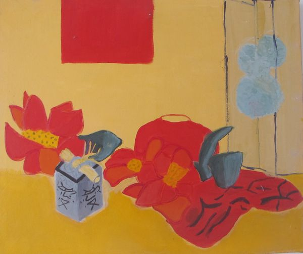 nature morte japonaise rouge jaune