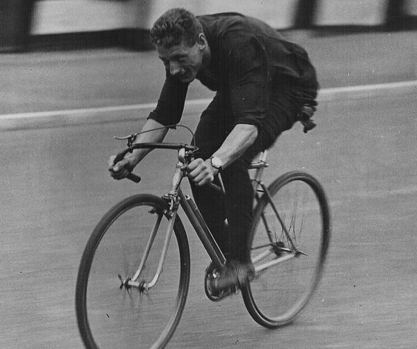Ralph Dougherty at speed in a 30s time trial