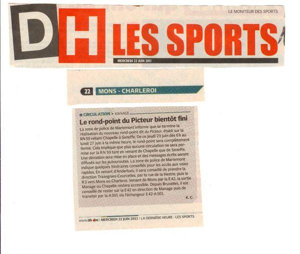 derniere-heure mons-charleroi 20110622 circulation rond-poi