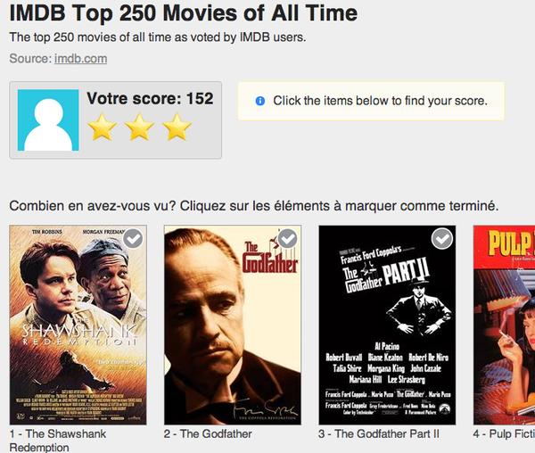 250 meilleurs films