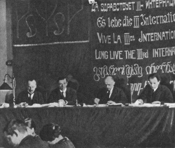 1919 Erster Kongress der Komintern in Moskau