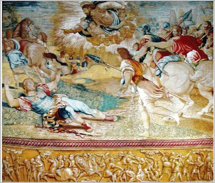 The Conversion of Saul tapestry designed by Rapahel, circa