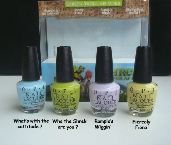 OPI Shrek mini's