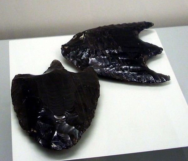 Late Classic obsidian spearheads from the Maya city of Pale