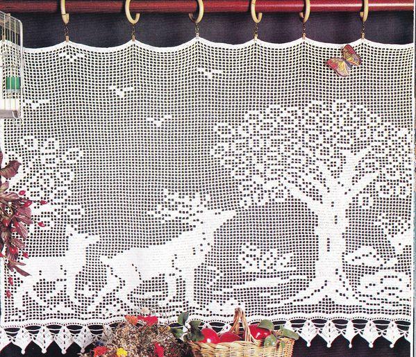 Crochet Rideau Harde De Cervidés Avec Tuto Le Blog De Crochet