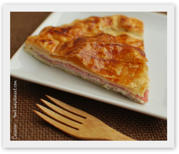 tourte jambon - fromage aux herbes1