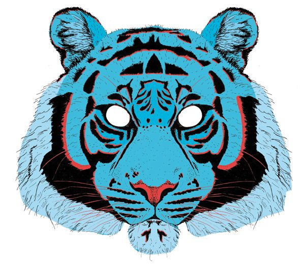 blog masque de tigre bleu illustration camille pepin hear