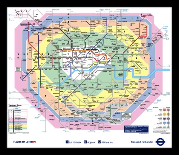 Londres et son réseau sous terrain   London