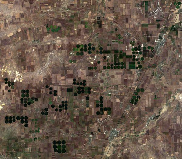 Landsat 8 - Crimée - irrigation - 17-08-2013 - 08h34