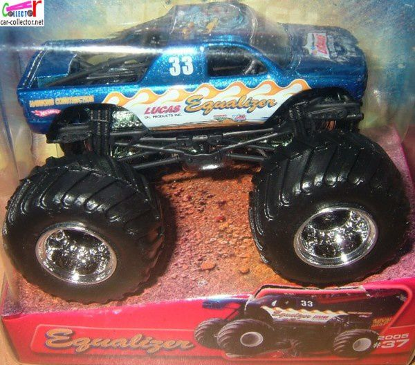 equalizer monster jam hot wheels big foot lucas products car collectornet