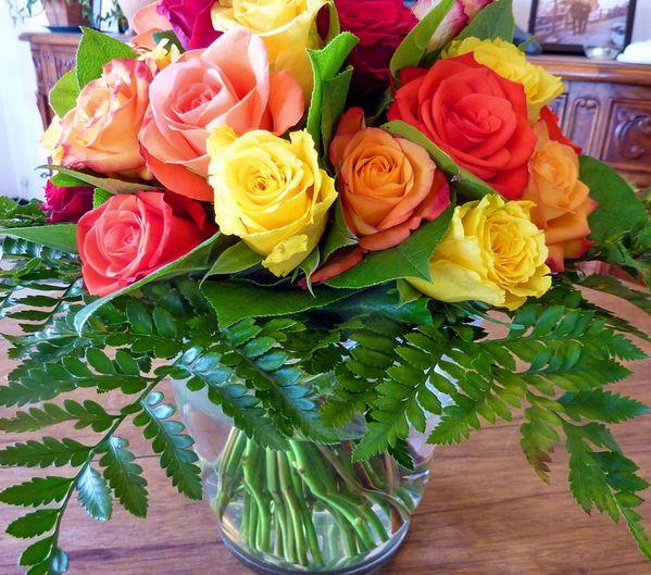 Un bouquet de roses un bouquet plein d 39 amour le blog for Un bouquet de roses