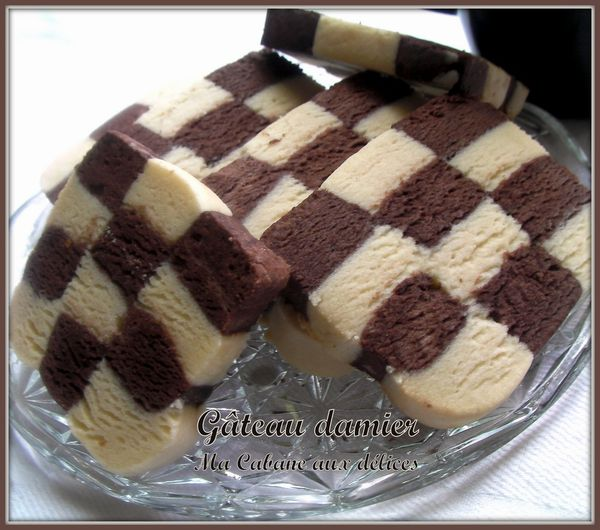 Gateau damier photo 3