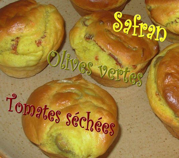 Muffins safranés aux tomates séchées2