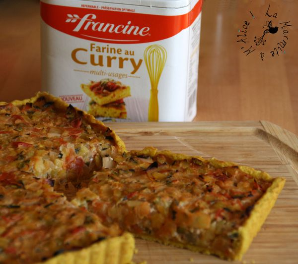 Attractive Pate A Tarte Tupperware #7: Tarte-aux-Courgettes-Farine-Curry-Francine.jpg