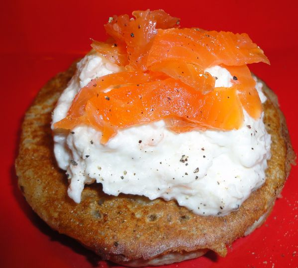 BLINIS CHANTILLY DE CREVETTE