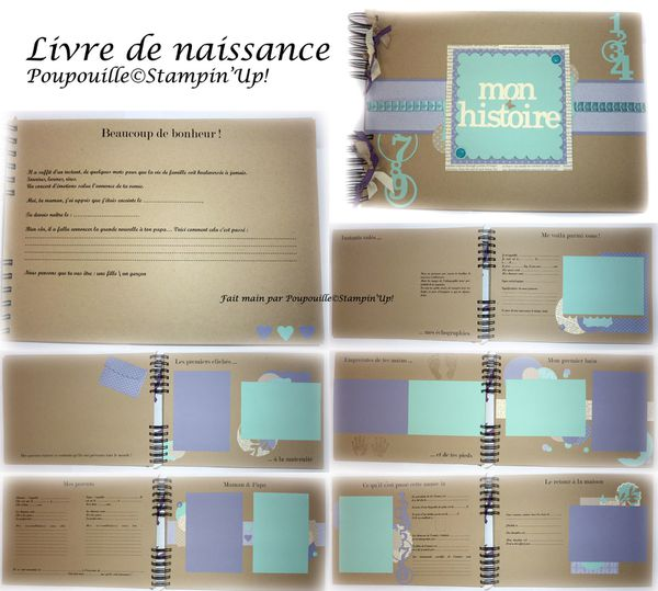 livre de naissance scrap n 39 stamp. Black Bedroom Furniture Sets. Home Design Ideas