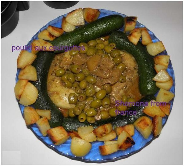 Tajine de poulet et courgettes de Desiree