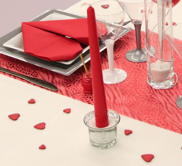 Une table sp cial saint valentin d coration f te mariage - Decoration st valentin ...