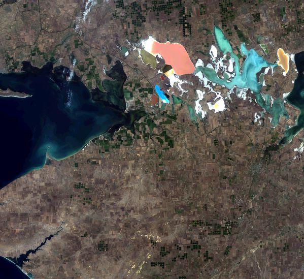 Landsat 8 - Crimée - Agriculture irriguée - 17-08-2013 -