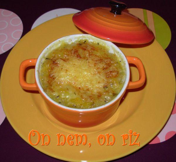 gratin de potiron au thym en cocotte on nem on riz. Black Bedroom Furniture Sets. Home Design Ideas