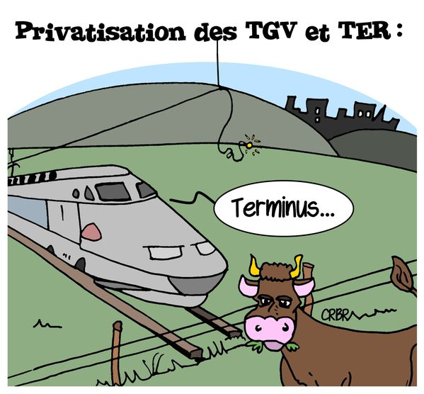 privatisation des tgv et ter pour 2019 les dessins d 39 actualit de cerb re. Black Bedroom Furniture Sets. Home Design Ideas