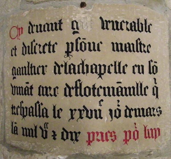 130 Epitaph from 1510 of Gautier de la Chapelle, ÉGLISE D'