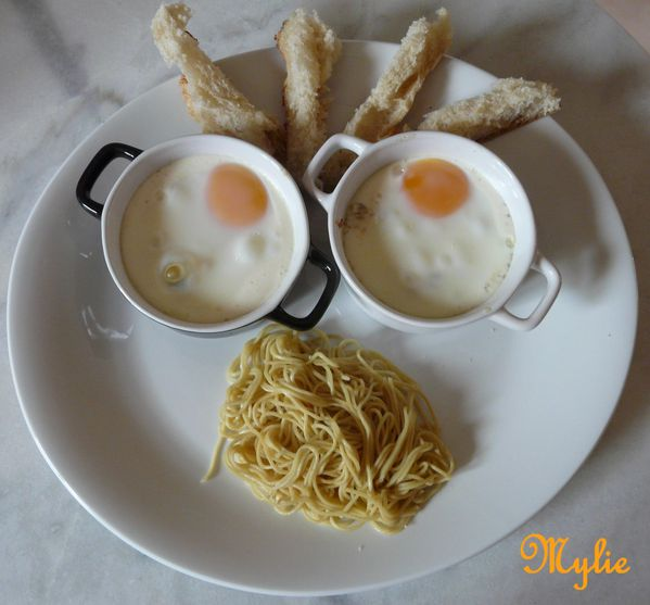 oeuf cocotte aux 3 fromages et coco 1