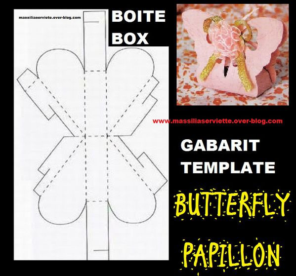 boite box papipllon butterfly template gabarit stamping mar