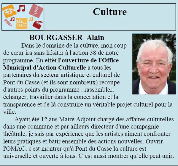 Culture Alain BOURGASSER
