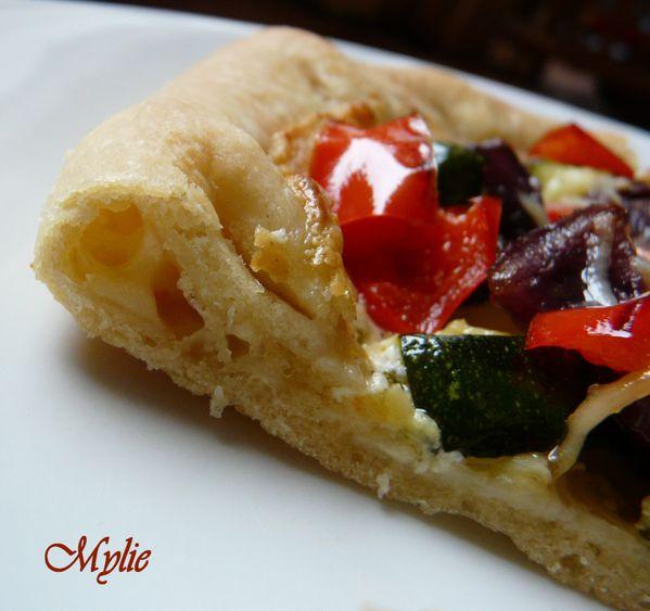 pizza aux légumes rôtis 3