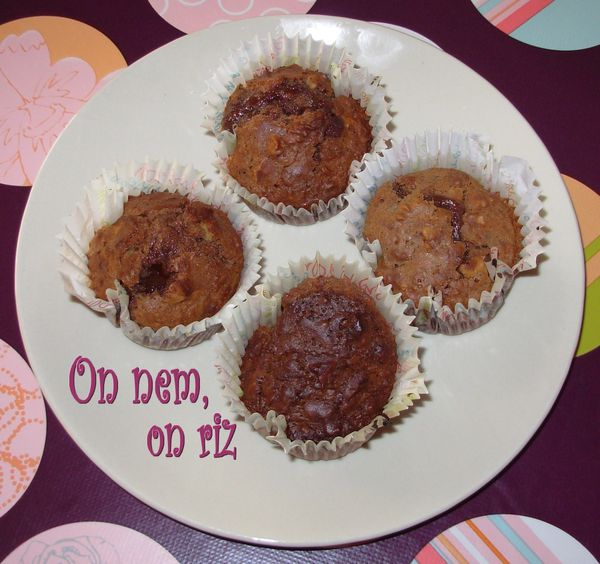 Muffins-brownies aux noix1
