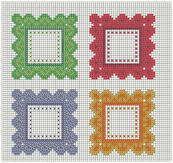 cornici colorate blocks & symbols 3