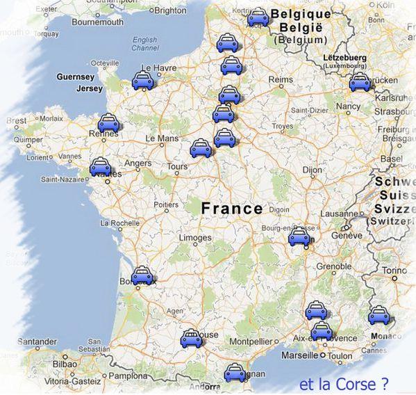 carte des nouveaux radars 2013