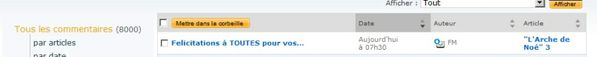 8000 commentaire