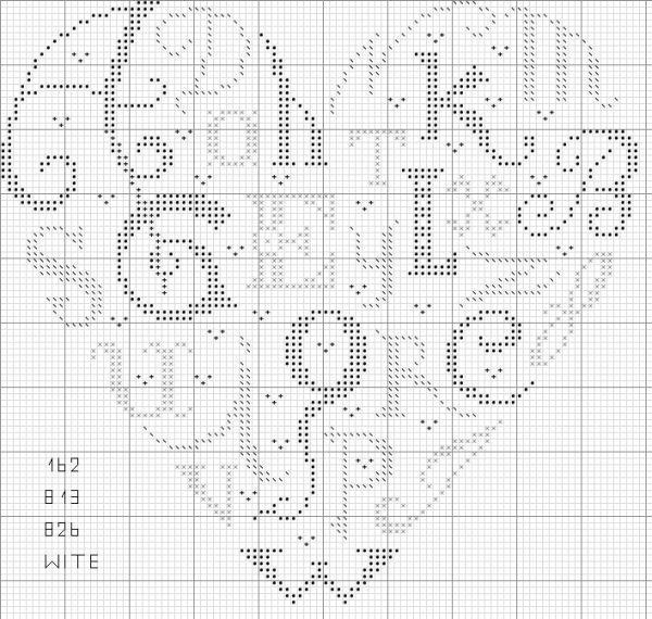 cuore - lettere con simboli