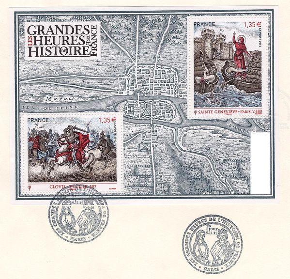 timbres-Clovis-Geneviève