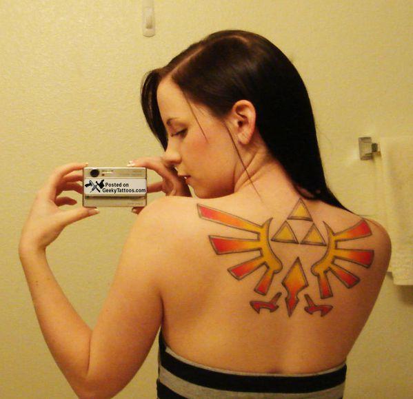 Zelda Triforce Tattoo