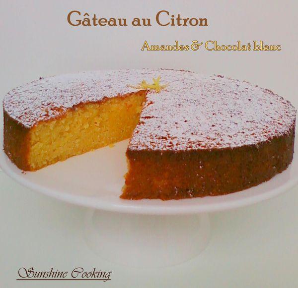 Caprese al limone g teau italien au citron amandes et chocolat blanc sans farine sunshine - Gateau au chocolat sans farine ...