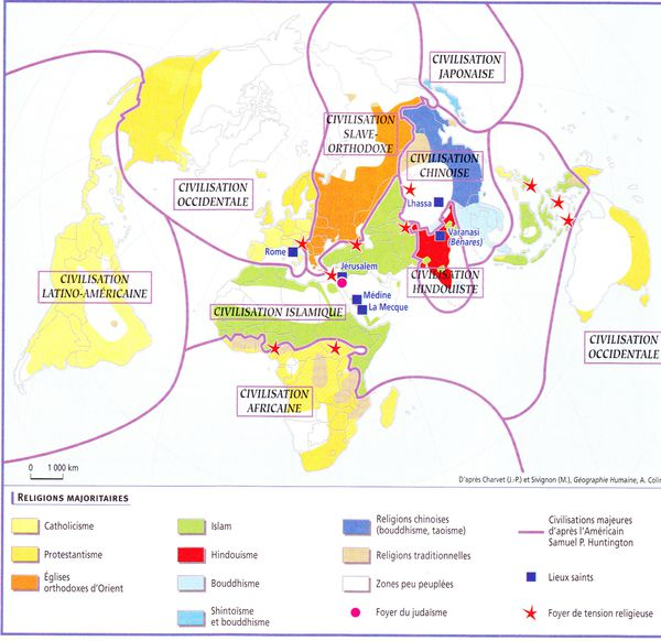 Carte aires de civilisation