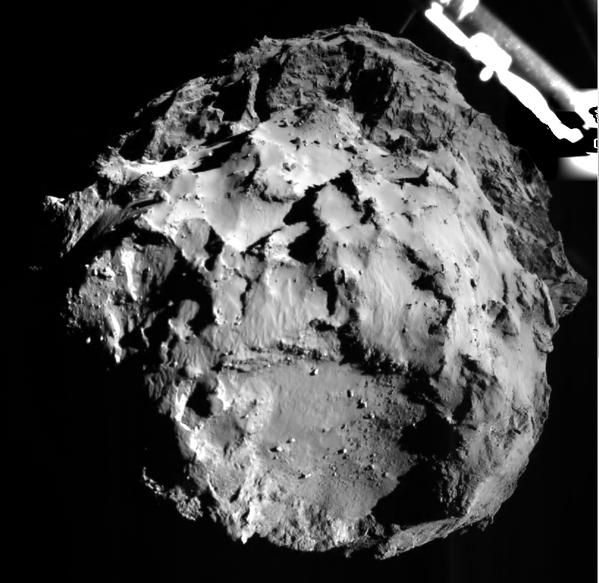 Rosetta - Philae - ROLIS - Première image de la comète 67P - 3 km