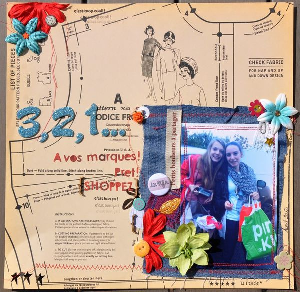 Page de scrap : shopping addict ;))